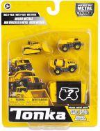 Cement Mixer / Dump Truck / Bulldozer / Mystery Vehicle | 4 Pack | Micro Metal | Tonka