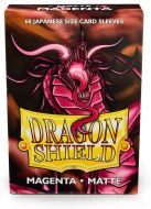 Magenta Matte Sleeves - Japanese Sized - Dragon Shield - 60ct In Box