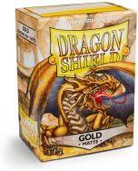 Gold 'Gygex' Matte  (100 Standard Sleeves) - Dragon Shield