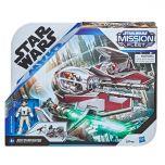 Jedi Starfighter With Obi-Wan Kenobi Figure | Stellar Class | Star Wars: Mission Fleet