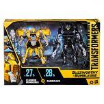 Clunker Bumblebee vs Barricade   Buzzworthy Bumblebee Studio Series 27-BB & 28-BB   Deluxe Class Action Figure   Transformers: The Movie