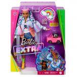 Barbie Extra Doll #5 Rainbow Braids With Puppy & Puppy Car