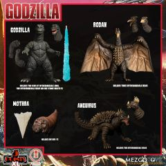 PRE-ORDER: Godzilla: Destroy All Monsters (1968)   Round 1 Boxed Set   5 Points XL   Mezco