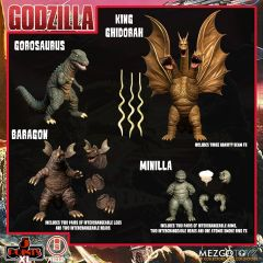 PRE-ORDER: Godzilla: Destroy All Monsters (1968)   Round 2 Boxed Set   5 Point XL   Mezco