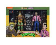 Rat King And Vernon   Action Figure 2 Pack   Teenage Mutant Ninja Turtles Cartoon   NECA