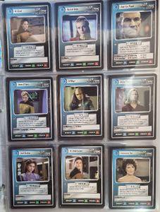 Star Trek CCG Premier Limited Black Border Complete Full Set   1994 Decipher