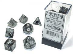 Borealis Polyhedral Light Smoke/silver Luminary 7-Die Set