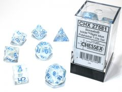 Borealis Polyhedral Icicle/light blue Luminary 7-Die Set