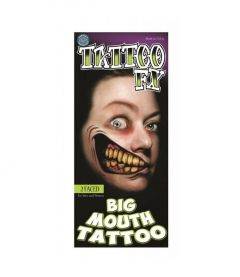2 Faced Big Mouth Tattoo - Tattoo FX