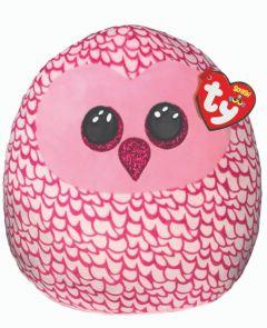 """Pinky Owl   Ty Boo Plush   10"""""""