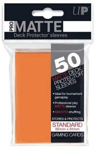 Pro Matte Orange Sleeves | Standard Size | 50ct | Ultra Pro