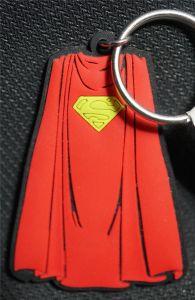 Superman Cape Rubber Keyring - DC  Comics