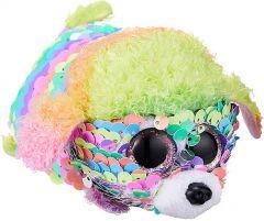 Rainbow Poodle | Flippable | Teeny TY | REG