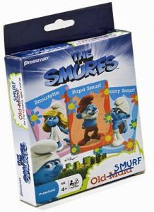 The Smurfs - Old Maid card game - Prescholl - Pressman Games