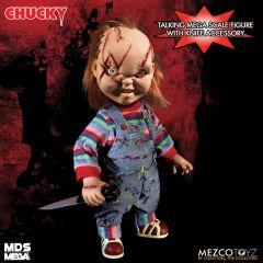 "Talking Scarred Chucky | Bride of Chucky | Child's Play | 15"" Doll | Mezco"