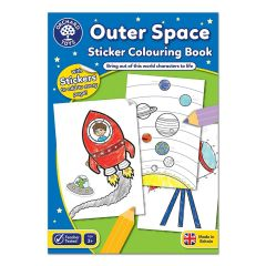Outer Space Sticker Colouring Book - Orchard Toys