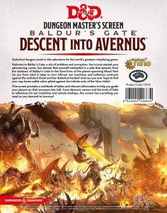 Descent Into Avernus DM Screen - Dungeons & Dragons