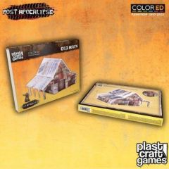 Old Barn - Plast Craft Games - Post Apocalyptic Fallout Aesthetic Scenery