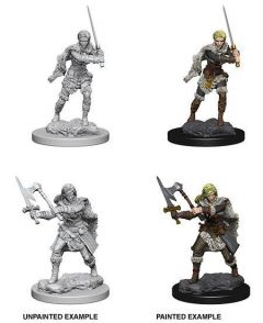 Human Male Barbarian - Dungeons & Dragons Nolzur's Marvelous Miniatures - Wizkids