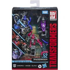 Deluxe Arcee, Chromia & Elita-1 - Transformers Studio Series 52 3 Pack Figures