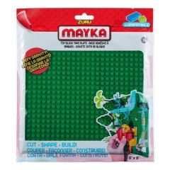 Green Toy Block Tape Plate - Mayka