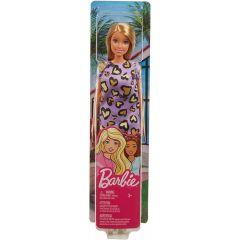 Barbie Blonde Hair with Purple Heart Dress