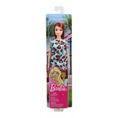Barbie Red Hair with Blue Heart Dress