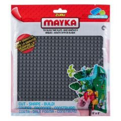 Grey Toy Block Tape Plate - Mayka