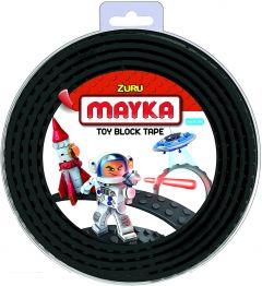 Black 2 Stud Mayka Toy Block Tape