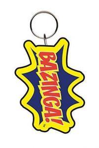 Bazinga! Logo Keyring - The Big Bang Theory