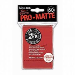 Pro Matte Red Sleeves deck Protector - Pack of 50 Ultra Pro Magic Pokemon