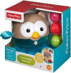 Fisher Price Bat & Roll Owl Chime Ball