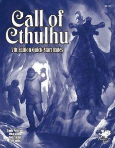 Call of Cthulhu 7th Ed Quick Start Rules.