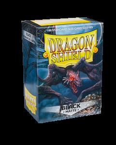 Black Matte 100 Standard Size Card Sleeves | Dragon Shield