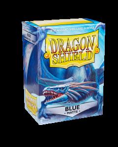 Blue Matte 100 Standard Size Card Sleeves | Dragon Shield