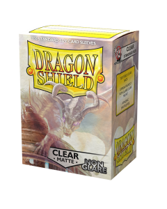 Clear Matte Non Glare 100 Standard Sized Card Sleeves | Dragon Shield