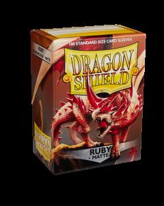 Ruby Matte 100 Standard Size Card Sleeves | Dragon Shield