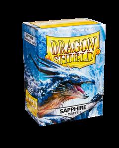 Sapphire Matte 100 Standard Size Card Sleeves | Dragon Shield