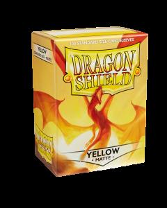 Yellow Matte 100 Standard Size Card Sleeves | Dragon Shield
