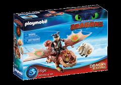Fishlegs and Meatlug | Dragon Racing | Dreamwork's Dragons