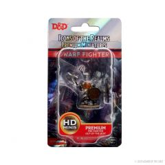 Dwarf Fighter (He/Him/They/Them) | Icons Of The Realms Premium Figure | Wave 4 | Wizkids
