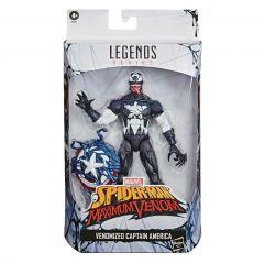 Venomized Captain America | Spider-Man: Maximum Venom | Marvel Legends Action Figure