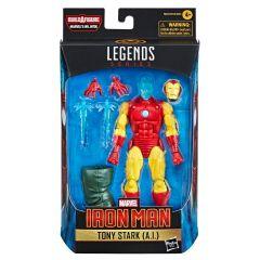"Tony Stark (A.I.)   Iron Man   6"" Scale Marvel Legends Series Action Figure"