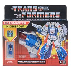 Highbrow | Deluxe Retro Headmaster Action Figure | Transformers: Generations
