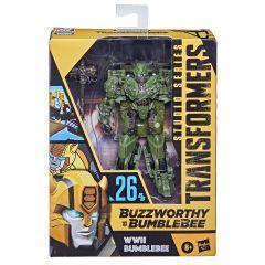 WWII Bumblebee | Buzzworthy Bumblebee Studio Series 26-BB | Deluxe Class Action Figure | Transformers: The Last Knight