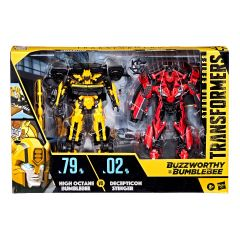 High Octane Bumblebee vs Decepticon Stinger   Buzzworthy Bumblebee Studio Series 79-BB & 02-BB   Deluxe Class Action Figure   Transformers: Age of Extinction
