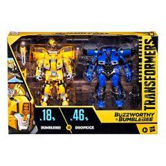 Bumblebee vs Dropkick   Buzzworthy Bumblebee Studio Series 18-BB & 46-BB  Deluxe Class Action Figure   Transformers: Bumblebee