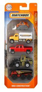 MBX Construction | 5 Vehicle Set | Matchbox