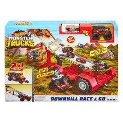 Downhill Race & Go | Hot Wheels Monster trucks play set