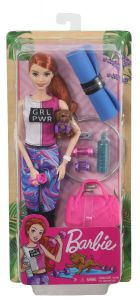 Red-Haired Fitness Doll with Puppy | Barbie